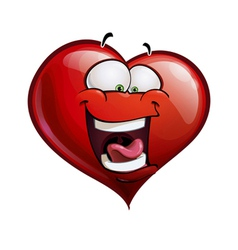 Heart Faces Happy Emoticons LOL vector image vector image