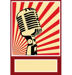 Music Poster Microphone vector image