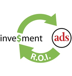 ROI ads return on investment vector image vector image