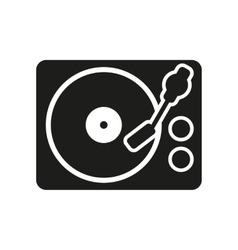 The turntable icon DJ and melody music player vector image