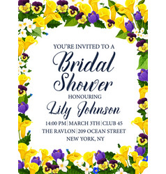 bridal shower party or wedding ceremony invitation vector image