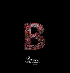 curly textured letter b vector image