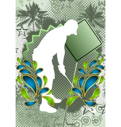 golf summer background vector image