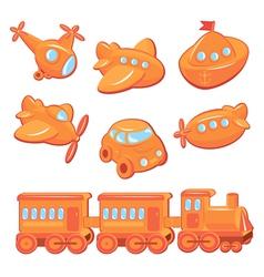 toy orange 380 vector image