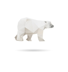 White bear isolated on a white backgrounds vector image