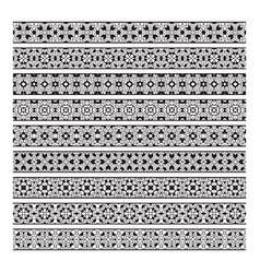 traditional ornamental borders set page vector image