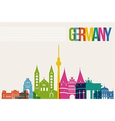 Travel Germany destination landmarks skyline vector image