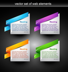 web element vector image vector image