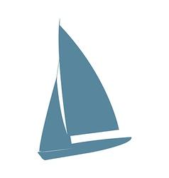 A yacht vector