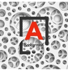 Abstract background holey wall with penetrating vector