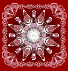Abstract mandala shape in guillloche design white vector