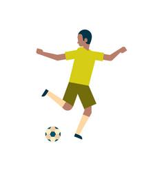 african american football player kick ball vector image