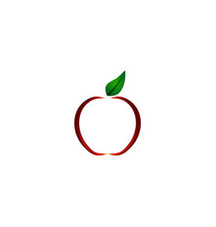 apple logo design inspiration vector image