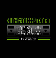 Authentic sport co bmx extreme style 2 vector
