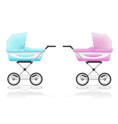 Baby perambulator 04 vector