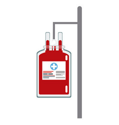 Bag blood hanging trasnfusion donation vector