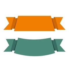 Banner ribbons icon flat style vector