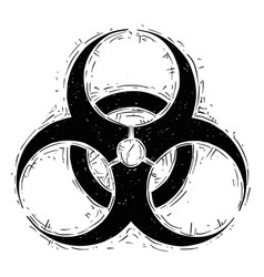 Biohazard symbol drawing vector