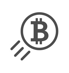Bitcoin sign icon - price go up and raising vector