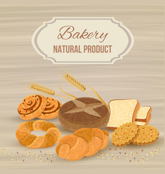 Bread poster vector