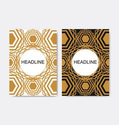 Brochure design template seamless arabic vector
