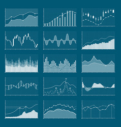 Business data financial charts stock analysis vector