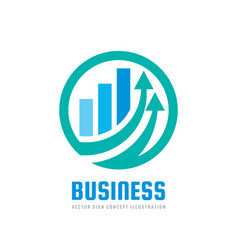 business finance logo template - concept vector image