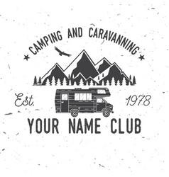 Camping and caravaning club vector