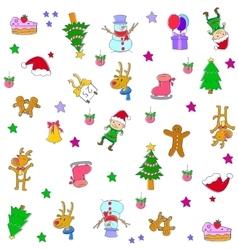 Christmas set element doodles vector