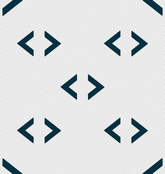 Code sign icon Programmer symbol Seamless abstract vector