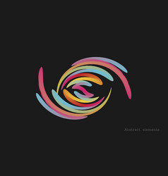 color gradient abstract element on dark background vector image
