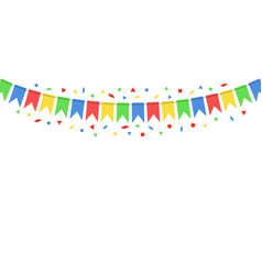 color hanging flags vector image