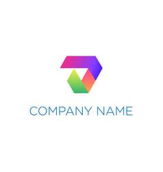 colorful gradient arrow logo design vector image