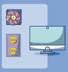 computer fan technology vector image