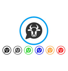 Cow message balloon rounded icon vector