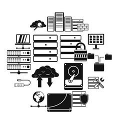 database icons set vector image