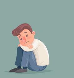 depressed businessman suffer emotion depression vector image