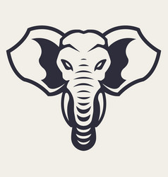elephant mascot icon vector image