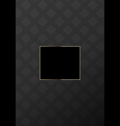 fashionable luxury geometric pattern cover design vector image