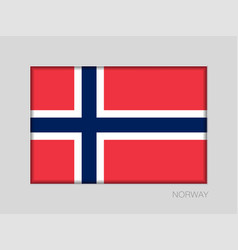 Flag of norway national ensign aspect ratio 2 to vector