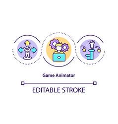 Game animator concept icon vector