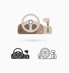 game controller - steering wheel vector image