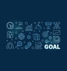 goal blue outline on dark vector image