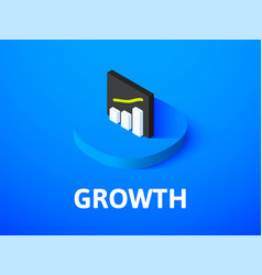 Growth isometric icon isolated on color vector