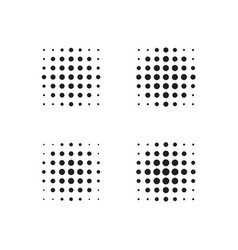 halftone dots forms vector image