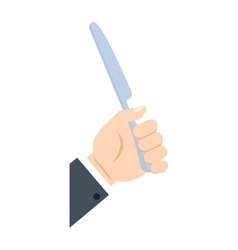 Hand take knife cook utensil vector