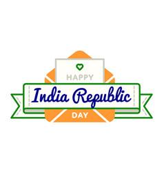 india republic day greeting emblem vector image
