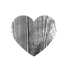 Isolated distress grunge heart with concrete vector