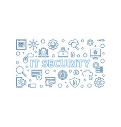 it security concept outline simple vector image