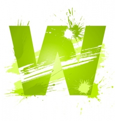 Letter W background vector image